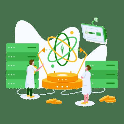 Software                       developer illustration
