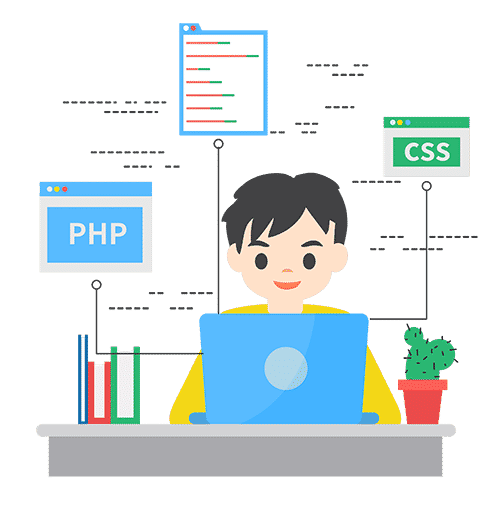 Student programming in PHP and CSS